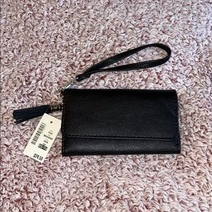 Black wallet Wristlet Clutch